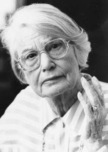 La sociologa tedesca Elisabeth Noelle-Neumann