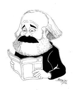 Caricatura di Karl Marx