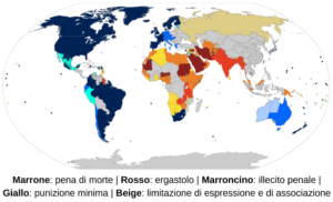 L'omosessualità nei diversi paesi mondiali