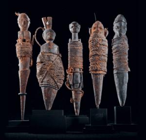 Bambole Voodoo, usate in alcuni rituali descritti da Frazer