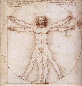 L'Uomo vitruviano, rappresentazione delle proporzioni ideali del corpo umano