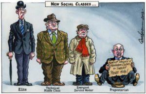 Stereotipi di moda per le distinte classi sociali