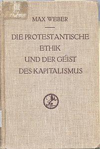 L'etica protestante e lo spirito del capitalismo, edizione originale
