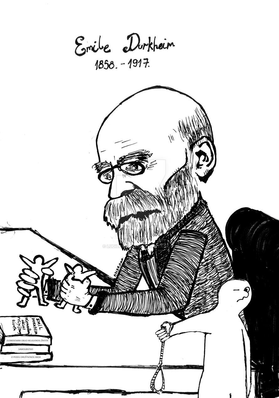 Caricatura di Émile Durkheim