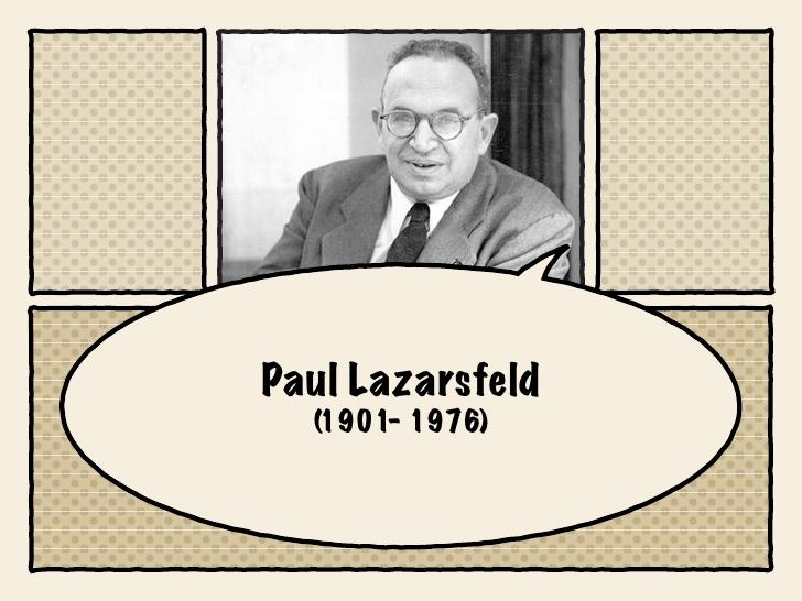 Che cos'è il paradigma lazarsfeldiano?