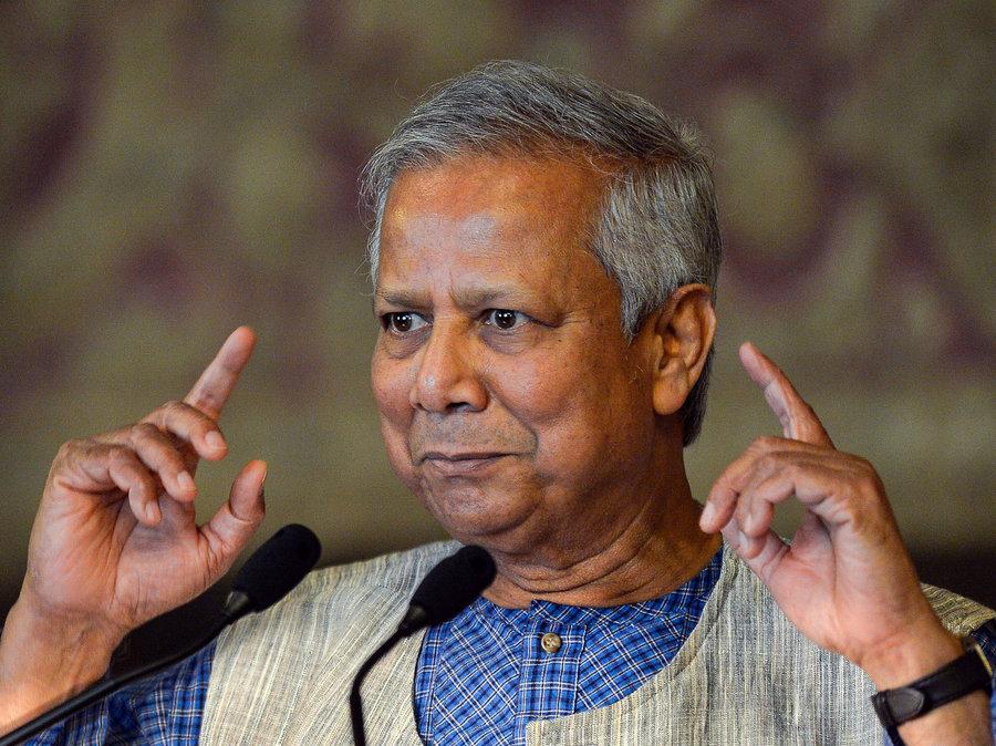 L'economista bengalese Muhammad Yunus, ideatore del microcredito