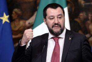 Il ministro degli Interni Matteo Salvini