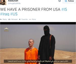 Screenshot di un profilo social pro-ISIS.