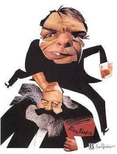 Caricatura di Bourdieu e Marx