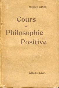 Corso di filosofia positiva, edizione originale