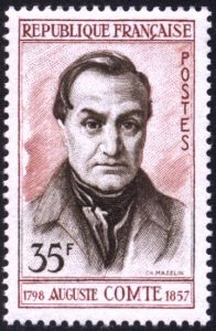 Francobollo raffigurante Auguste Comte