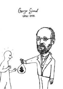 Caricatura di Georg Simmel