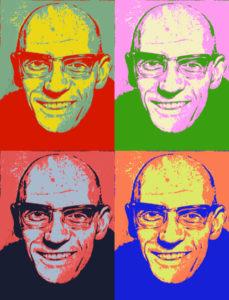 Michel Foucault in pop art