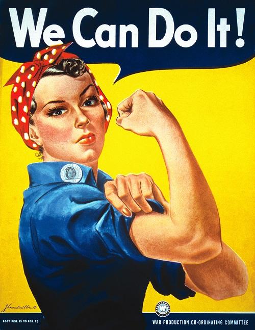 """""""Rosie the Riveter"""", diventata figura iconica del femminismo"""