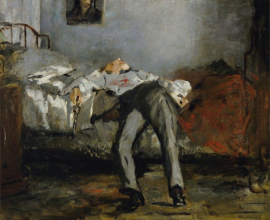 quadro di Manet suicidio