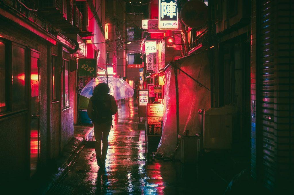 Osaka, notte