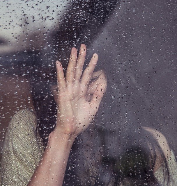 Rain Drops Girl Window Raining People Sad Crying