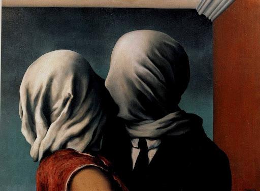 les amants, quadro di René Magritte