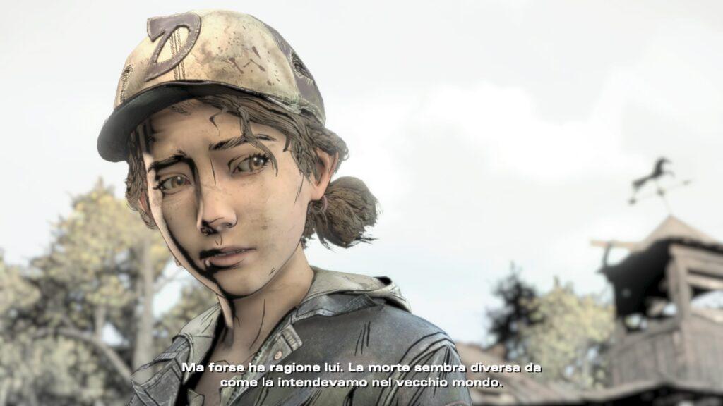 La protagonista del videogioco di The walking dead della casa di produzione videoludica telltale